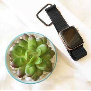 Accessories - NWB for Apple iwatch Black stainless steel band